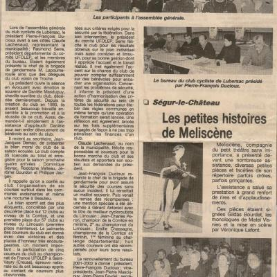 Anciens articles de presse