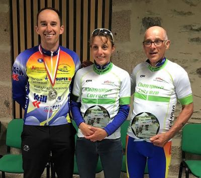 3 podiums pour l uclubersac sebastien garcia vice champion emilie antoniol chassagne et georges gourdon chamions departementaux